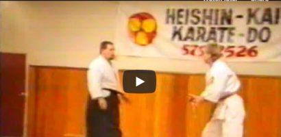 Shihan Bob Curzon-Siggers performing Knife Defence